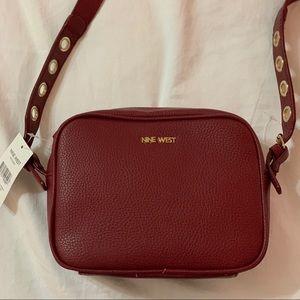 Nine West leather burgundy purse
